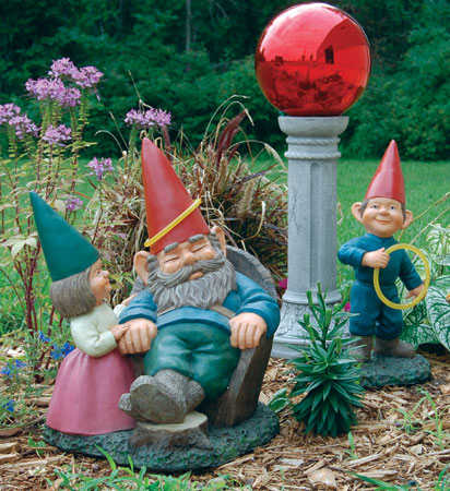 Gnome With Gazing Ball